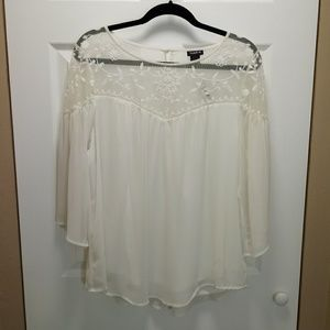 TORRID Embroidered Tulle Top